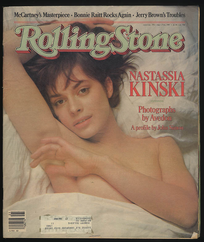 ROLLING STONE 5/27 1982 Nastassis by Avedon; McCartney; Bonnie Raitt Jerry Brown
