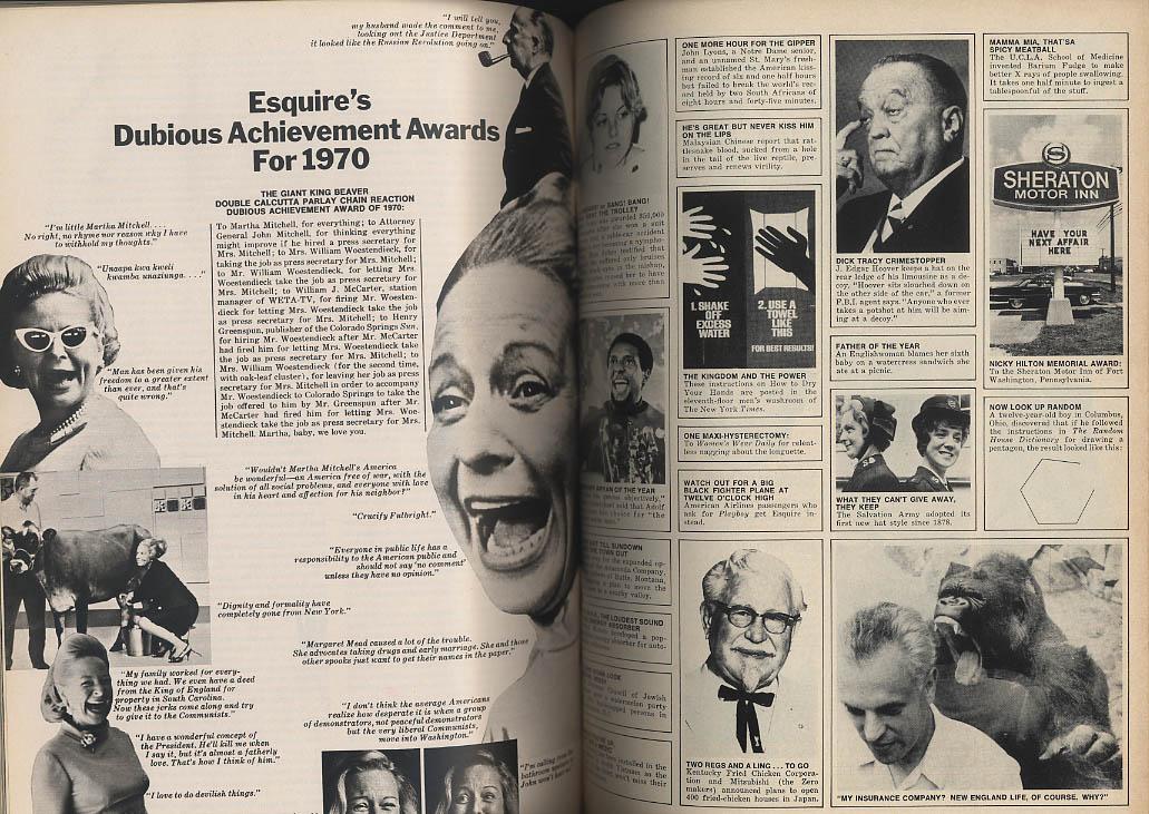 Image for ESQUIRE 1 1971 Dubious Achievements Feminism's Mistake; James Jones