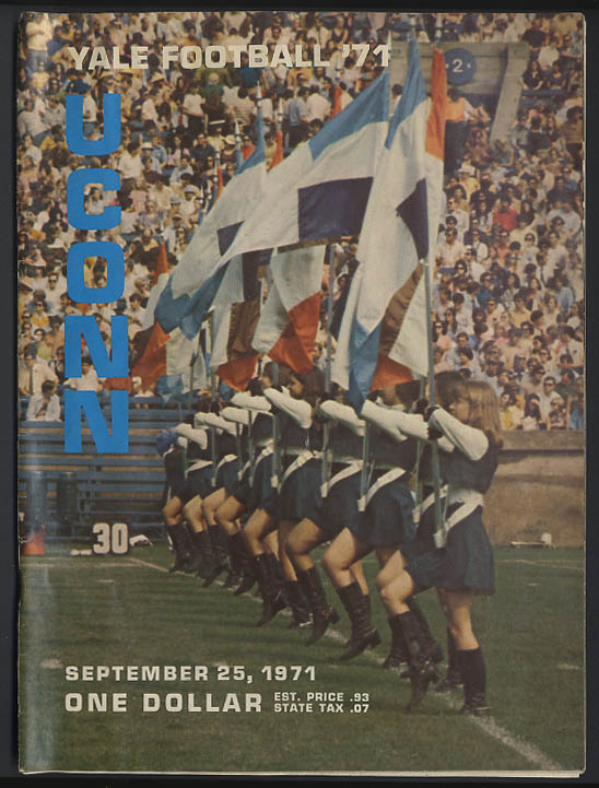 University of Connecticut at Yale Football Program 1971