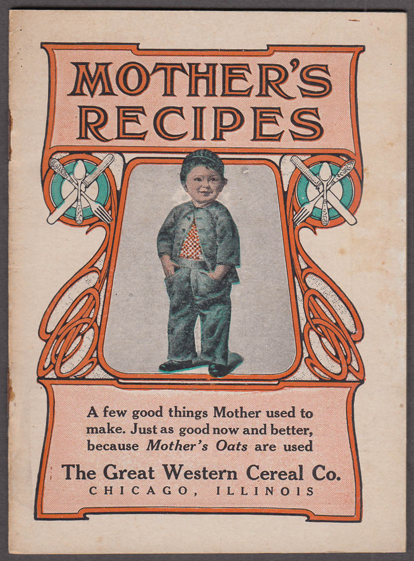 Image for Great Western Cereal Mother's Oats Recipes booklet ca 1910