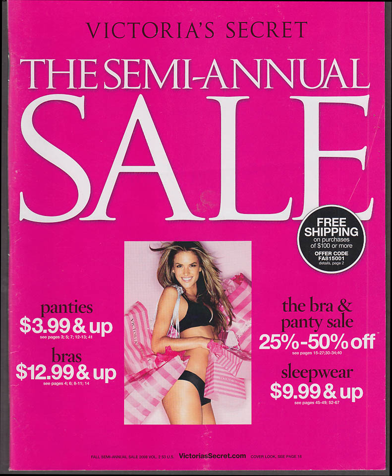 Victoria's Secret Semi-Annual Sale Catalog Fall 2006
