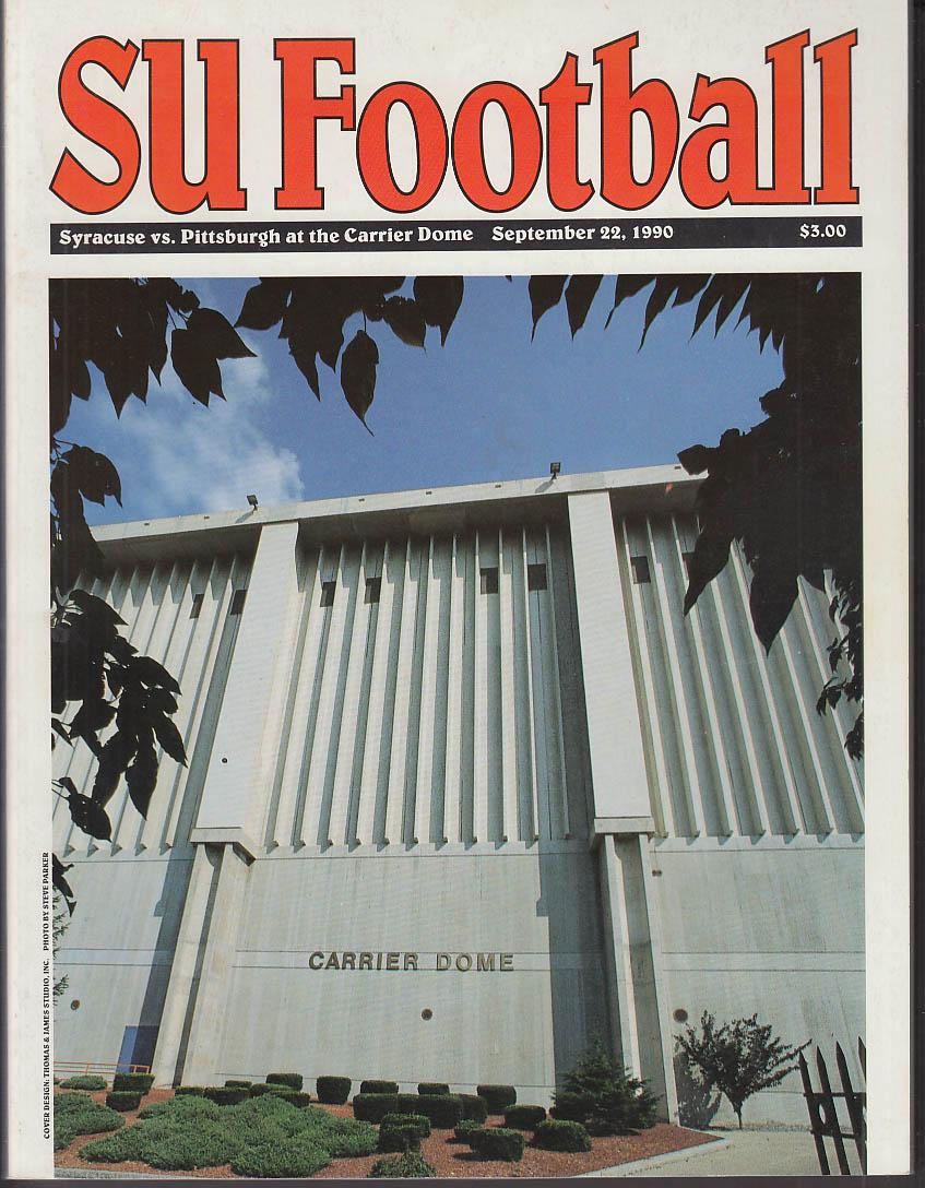 Syracuse University vs Pittsburgh Football Program 9/22 1990