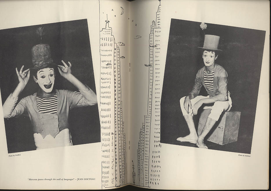 Image for Marcel Marceau performance souvenir program 1955