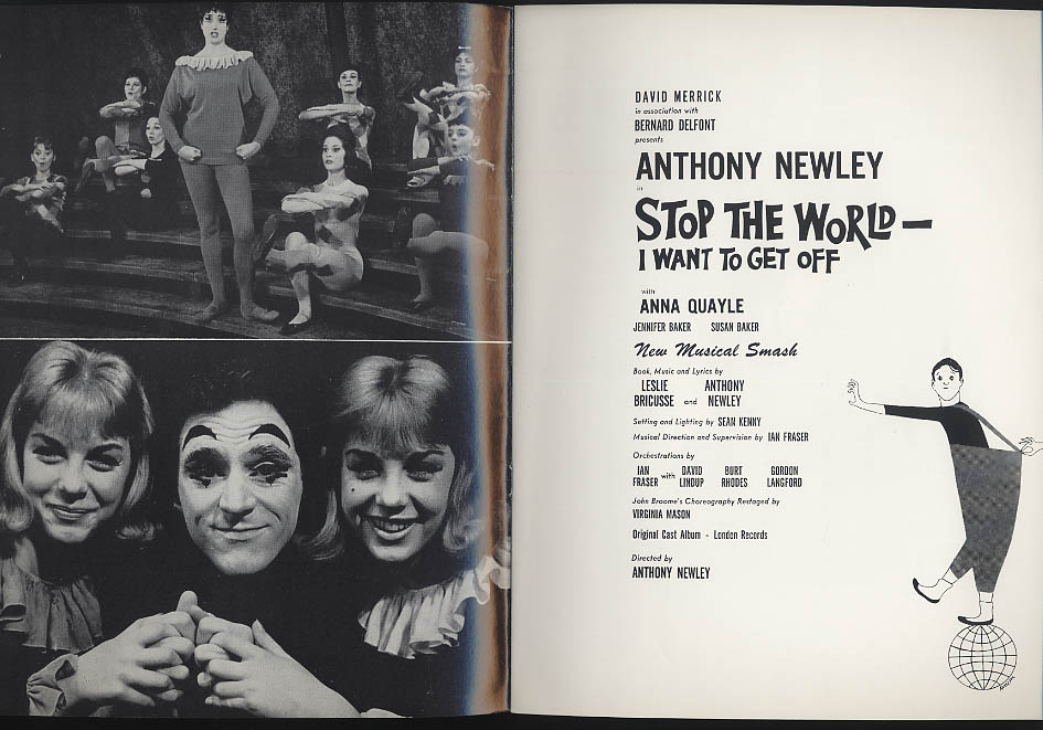 Stop the World I Want to Get Off program Anthony Newley Anna Quayle 1962