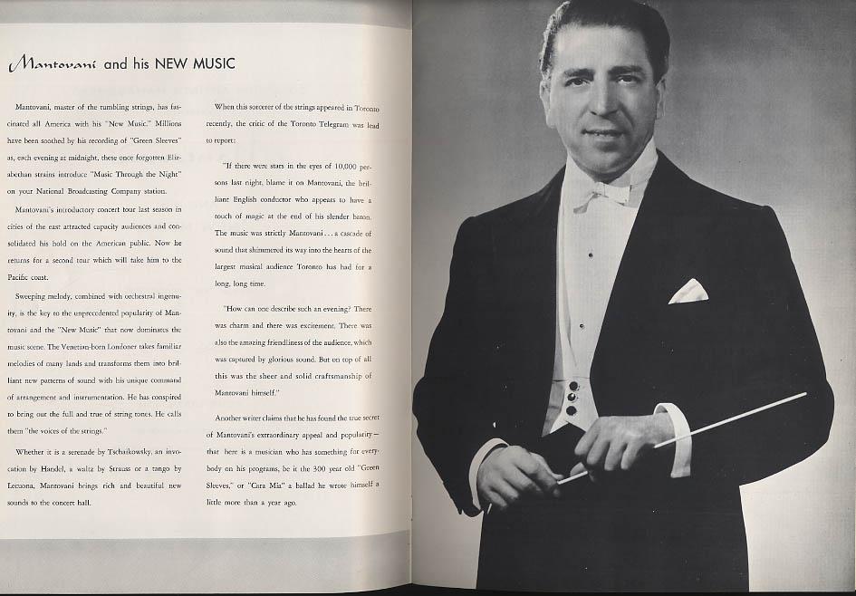 Image for Mantovani & His New Music souvenir concert program 1958