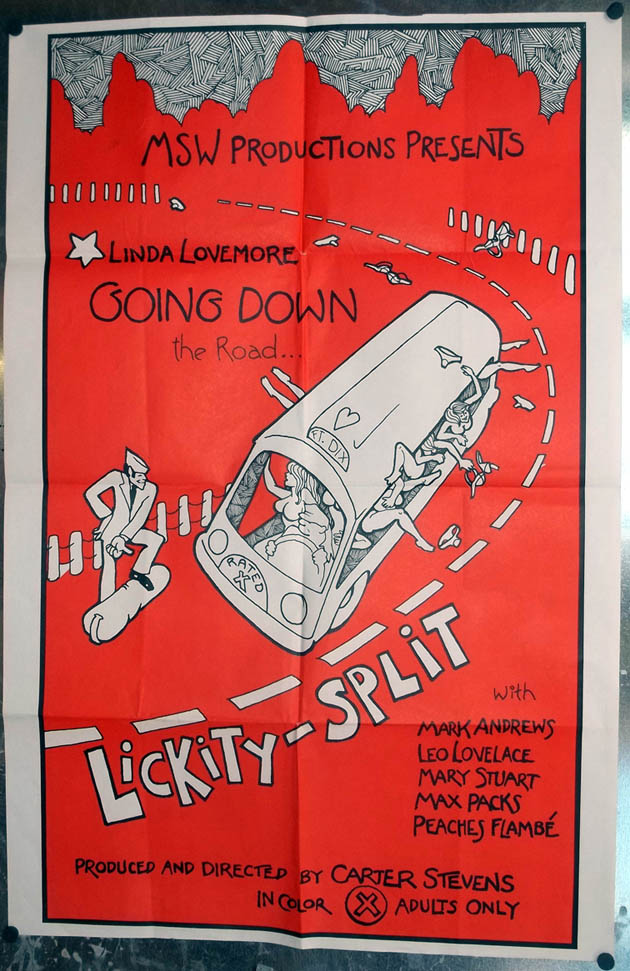 "Image for Lickity-Split one-sheet movie poster 27x41"" Linda Lovemore 1974"