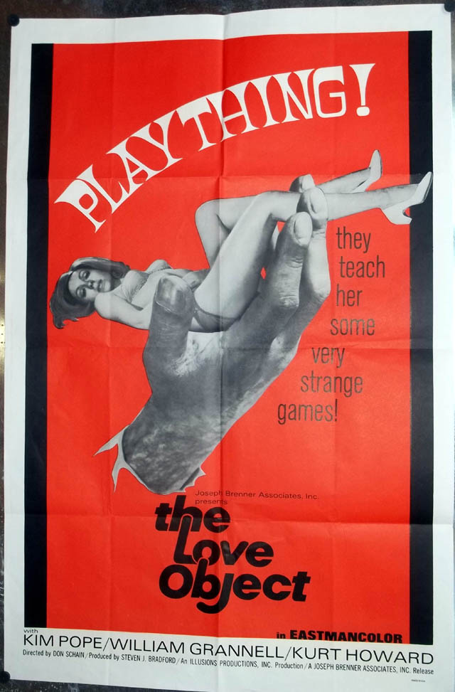 "Image for The Love Object movie poster 27x41"" 1970 Kim Pope William Grannell Kurt Howard"