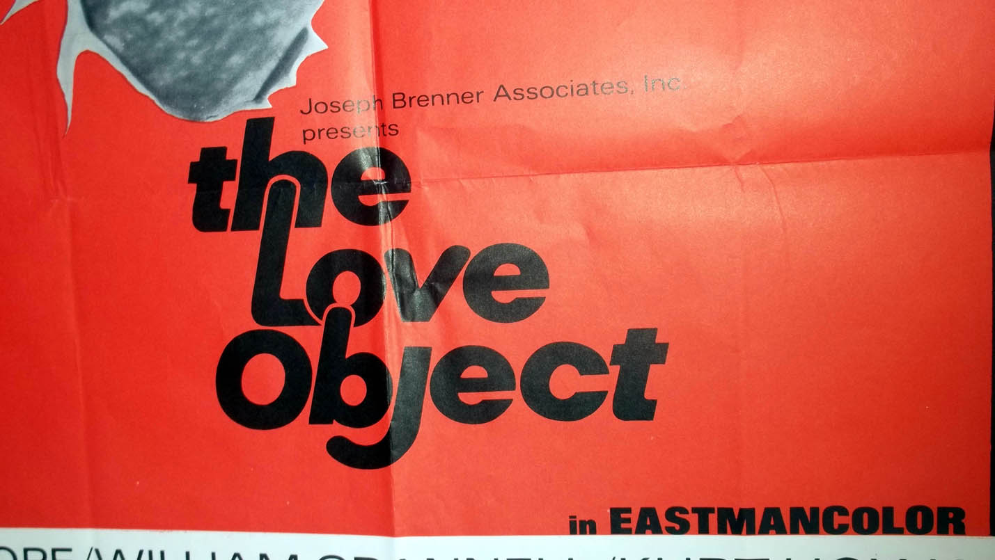 """Image for The Love Object movie poster 27x41"""" 1970 Kim Pope William Grannell Kurt Howard"""