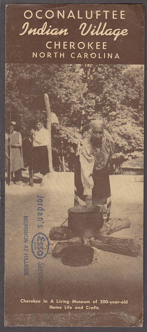 Image for Oconaluftee Indian Village tourism folder Cherokee NC ca 1930s