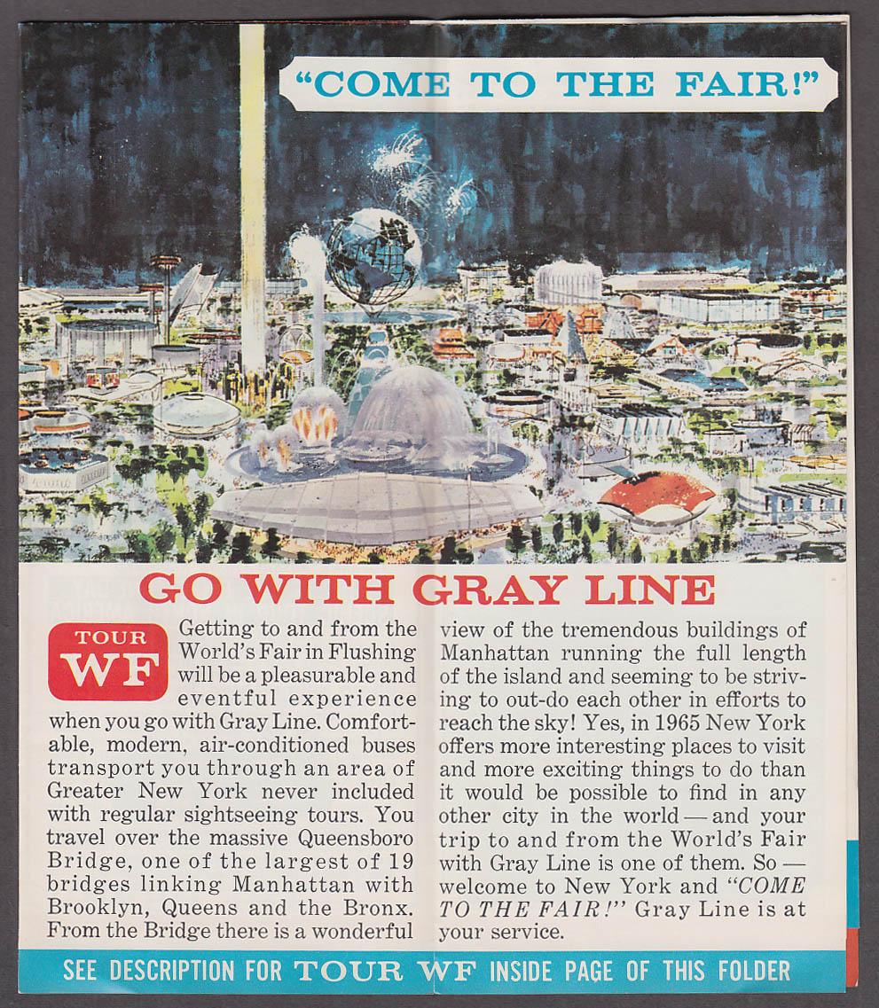 Image for Gray Line Bus Sightseeing New York World's Fair folder 1965