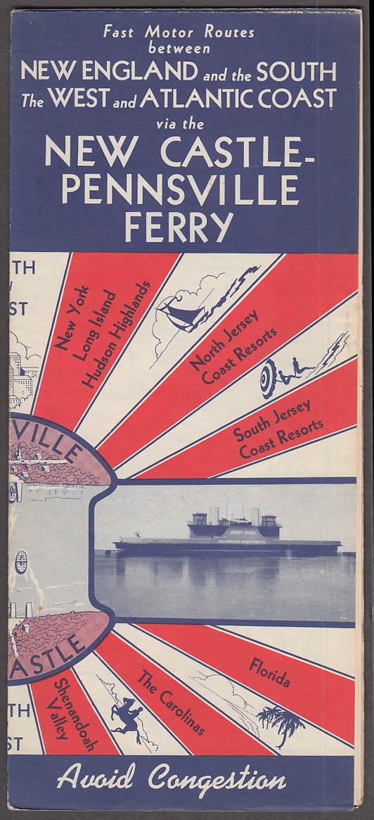 Image for New Castle-Pennsville Ferry Road Map folder 1941 Delaware-New Jersey