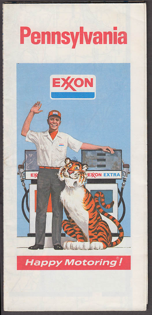 Image for Exxon Gasoline Road Map Pennsylvania 1974