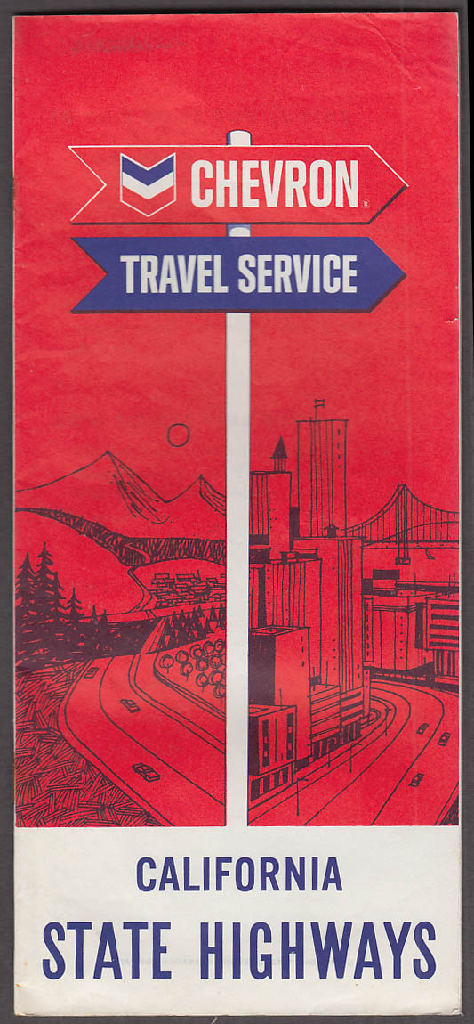 Chevron Gasoline Travel Service Highlights of California State Highways 1965