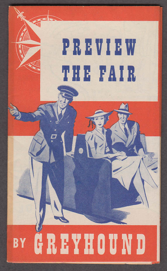 Image for Preview the New York World's Fair Greyhound Bus map & tours folder 1940