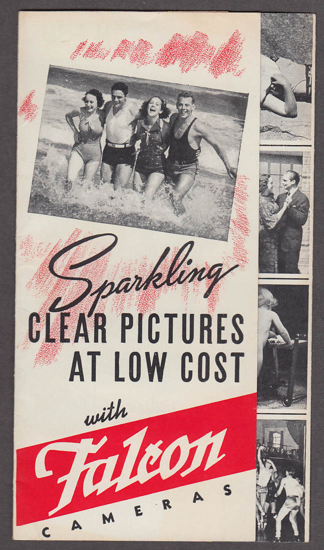 Image for Sparkling Clear Pictures at Low Cost with Falcon Camera sales folder ca 1940s