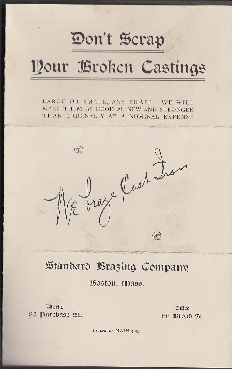 Image for Standard Brazing Don't Scrap Your Broken Castings folder envelope & tag 1905