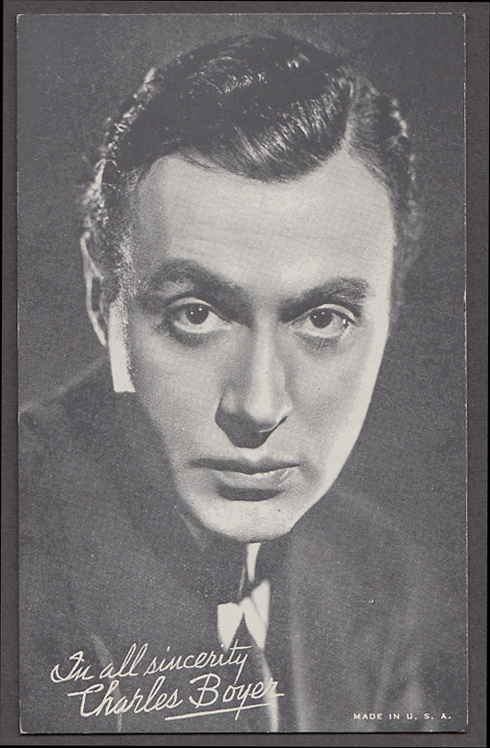 Image for Actor Charles Boyer arcade card 1940s