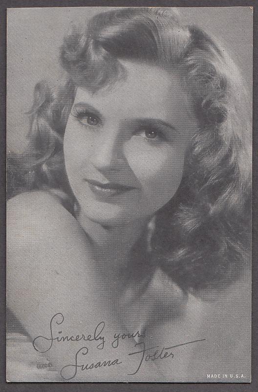Image for Actress Susana Foster arcade card 1950s