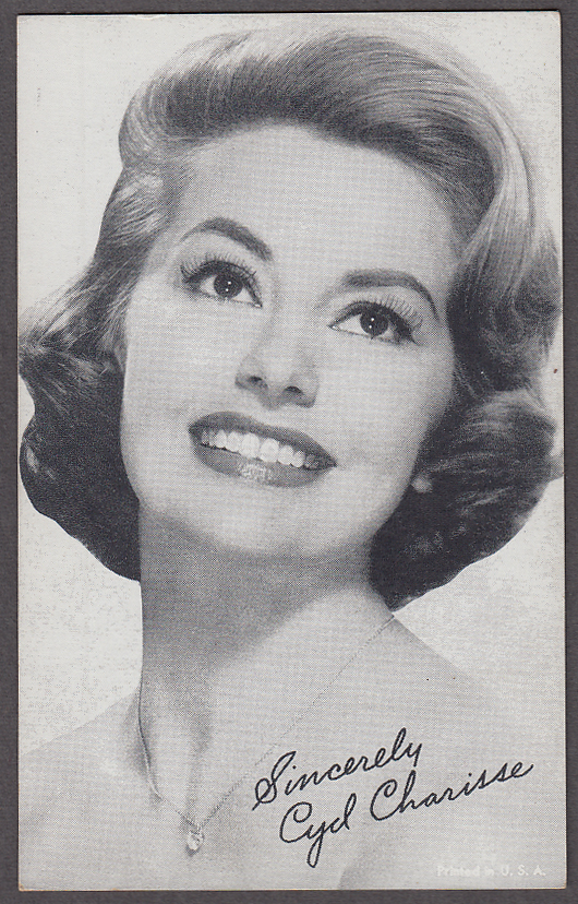 Image for Actress & dancer Cyd Charisse arcade card 1940s