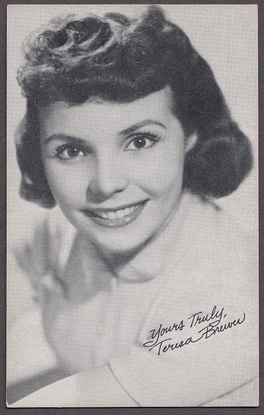 Singer Teresa Brewer arcade card 1940s