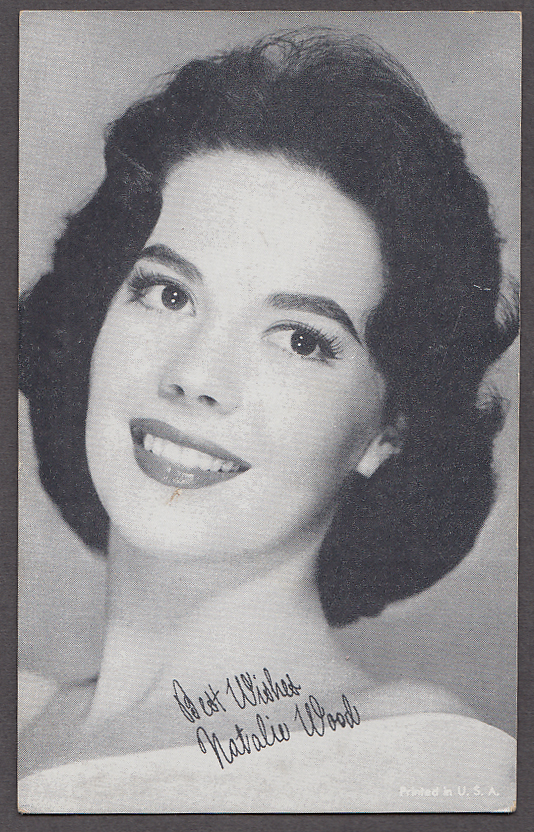 Actress Natalie Wood arcade card 1950s