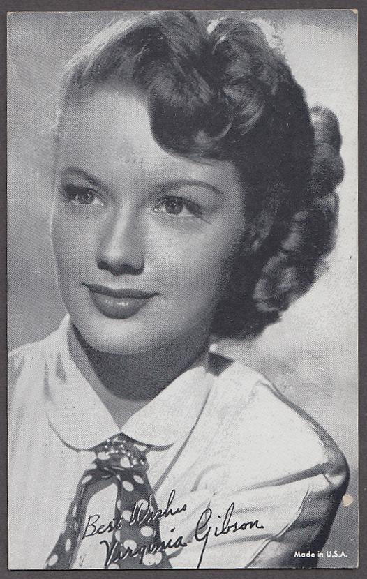 Image for Actress Virginia Gibson arcade card 1940s