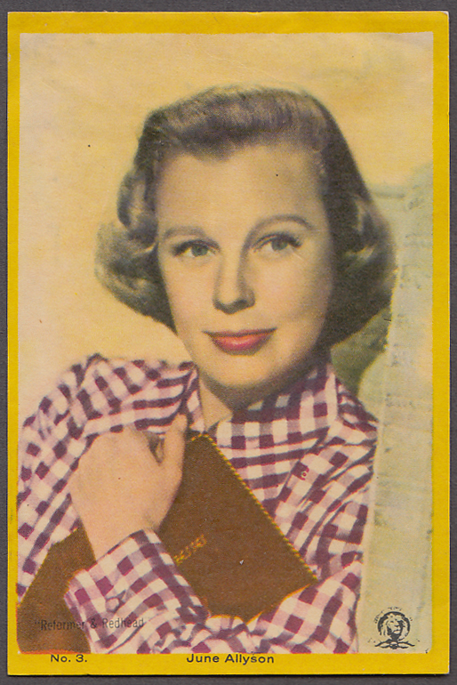 "Image for Actress June Allyson 3x5"" picture Argentina 1959"