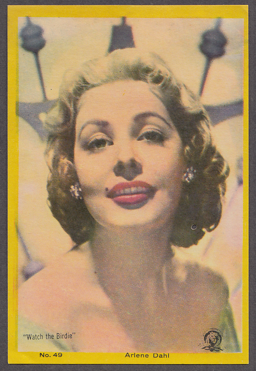 "Actress Arlene Dahl 3x5"" picture Argentina 1959"