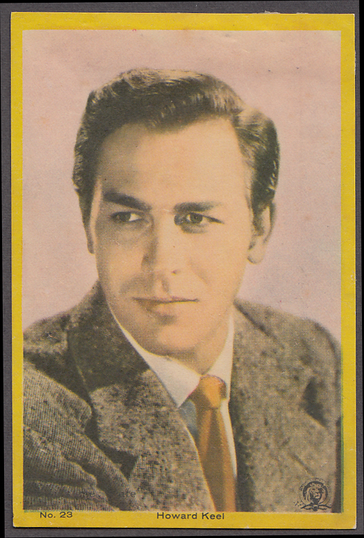 "Actor Howard Keel 3x5"" picture Argentina 1959"