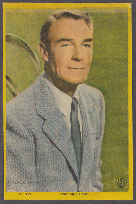 "Actor Randolph Scott 3x5"" picture Argentina 1959"