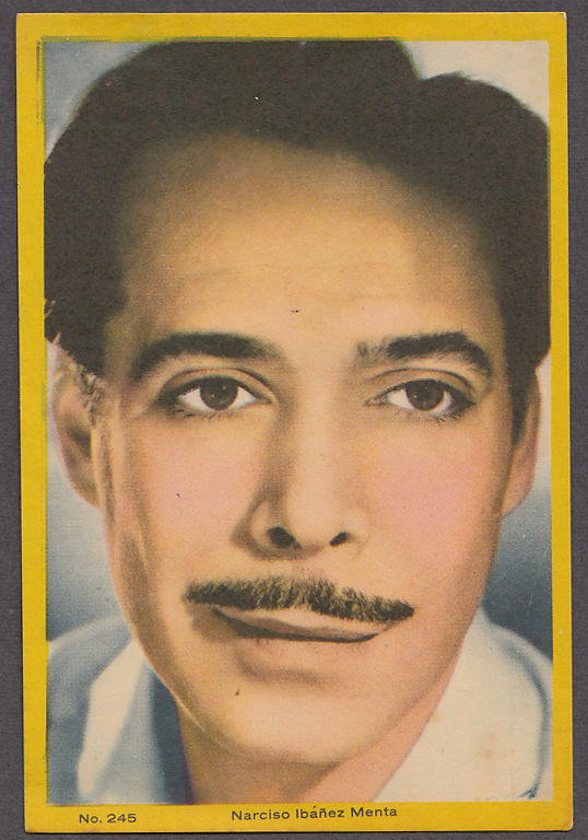 "Image for Argentinian actor Narciso Ibanez Menta 3x5"" picture Argentina 1959"
