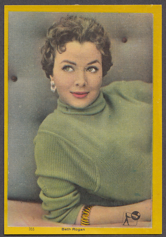 """Image for Actress Beth Rogan 3x5"""" picture Argentina 1959"""