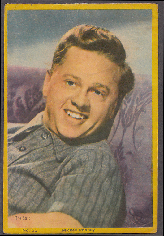 "Image for Actor Mickey Rooney 3x5"" picture Argentina 1959"
