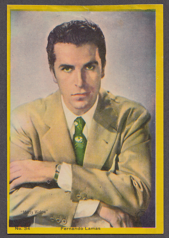 """Image for Actor Fernando Lamas 3x5"""" picture Argentina 1959"""