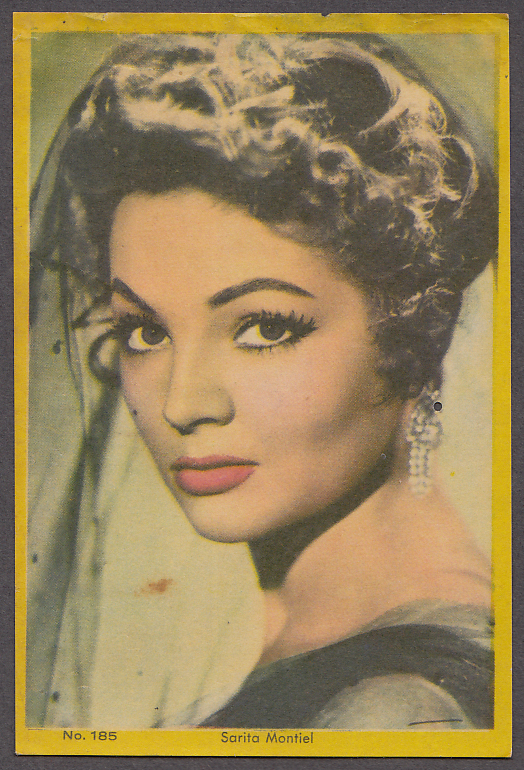 "Image for Mexican actress Sarita Mantiel 3x5"" picture Argentina 1959"