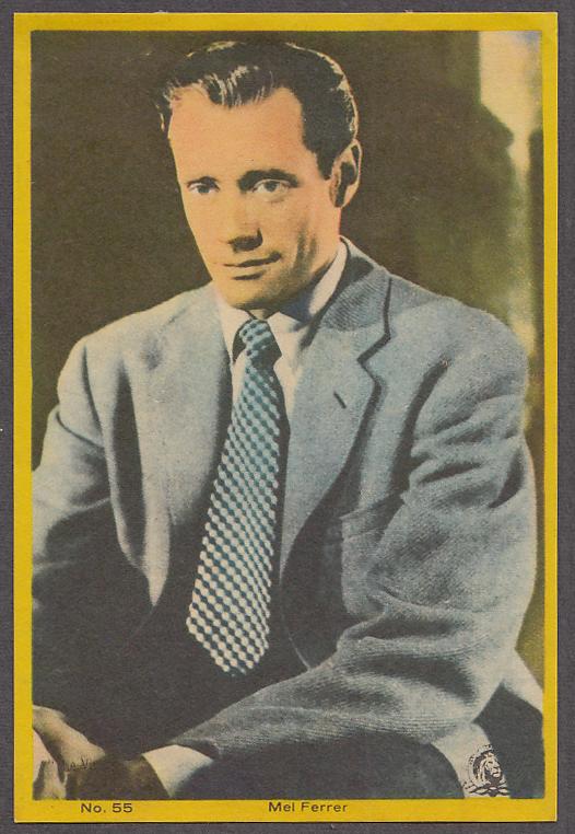 "Image for Actor Mel Ferrer 3x5"" picture Argentina 1959"