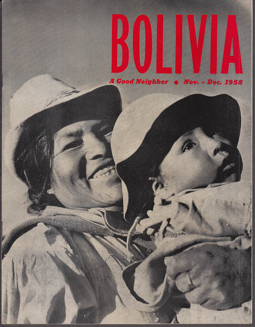 Image for BOLIVIA Magazine 11-12 1955 Vicuna; Bolivia at the Unioted Nations +