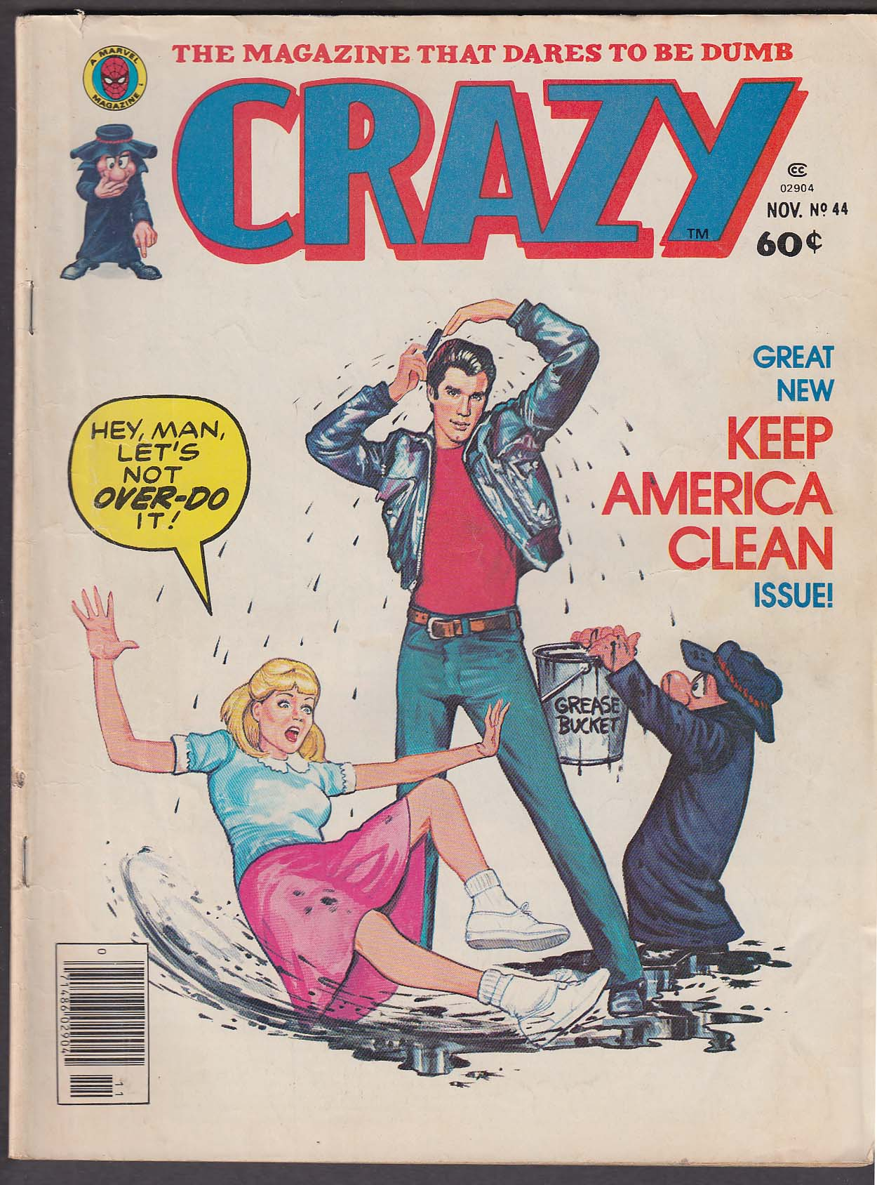 Image for CRAZY #44 Grease Satire/Parody Olympics National Enquirer 11 1978