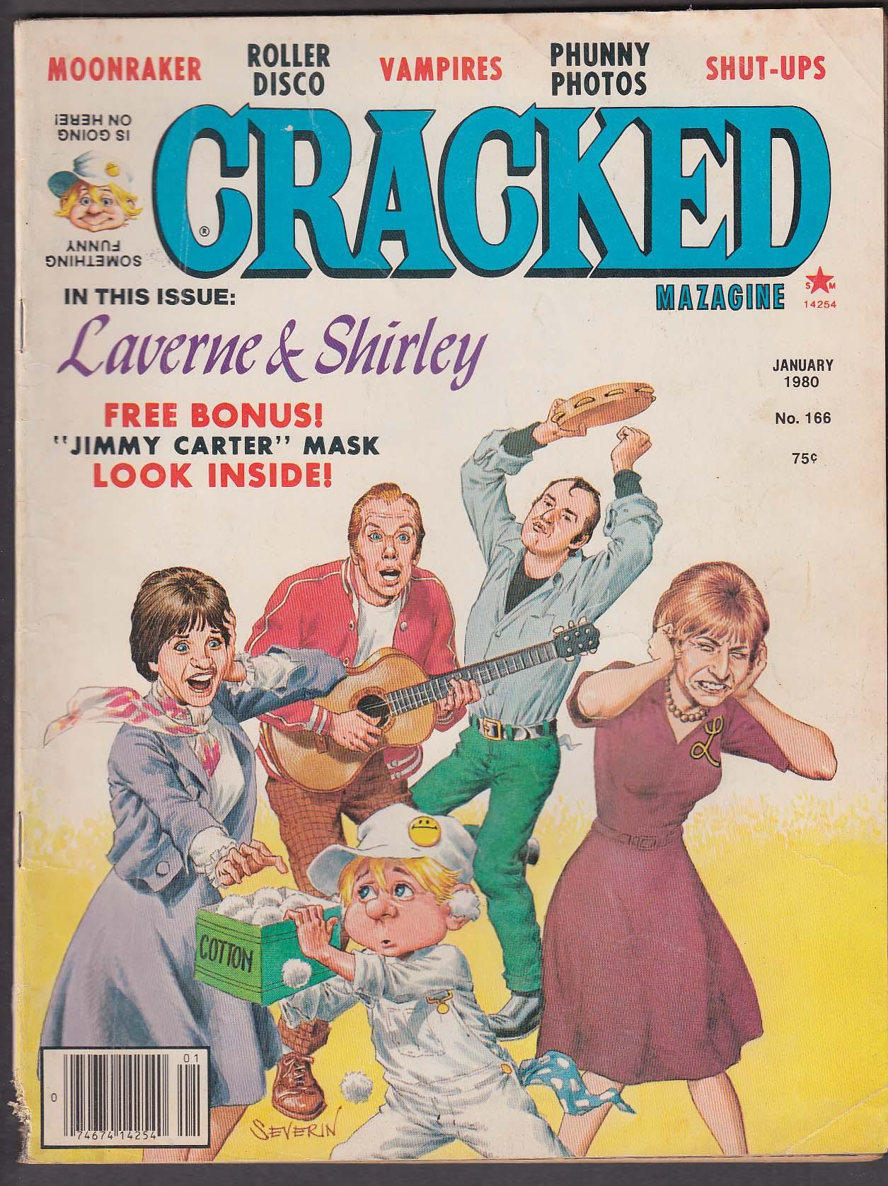 Image for CRACKED #166 Laverne & Shirley Moonraker Jimmy Carter Roller Disco + 1 1980