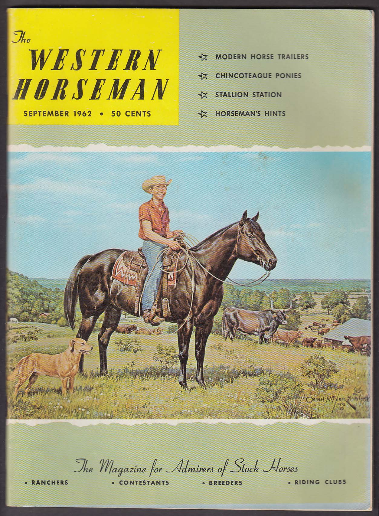 Image for WESTERN HORSEMAN Chincoteague Ponies Intercollegiate Rodeo Mongolia + 9 1962