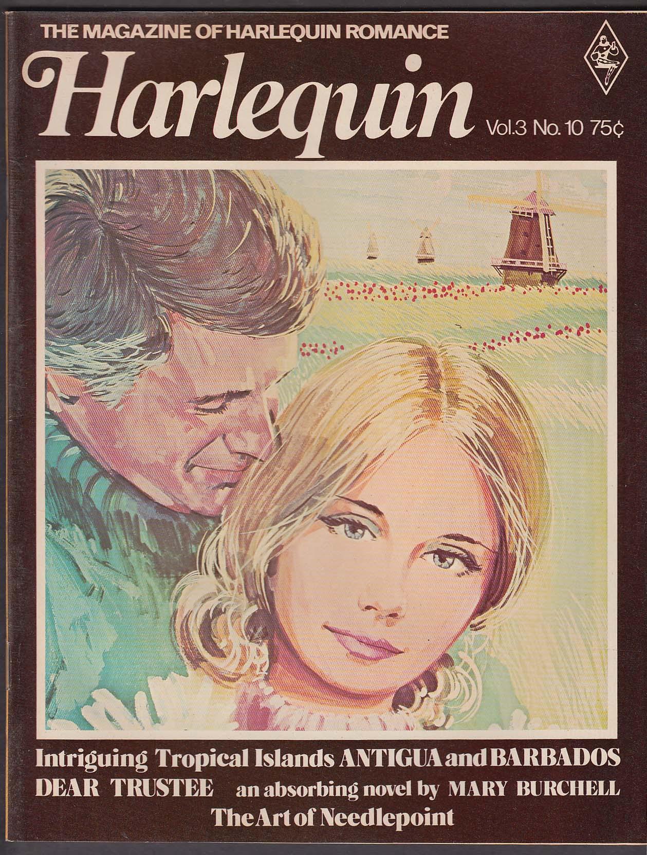 Image for HARLEQUIN V3 #10 Mary Burchell Margery Lewty Needlepoint Antigua Barbados + 1975
