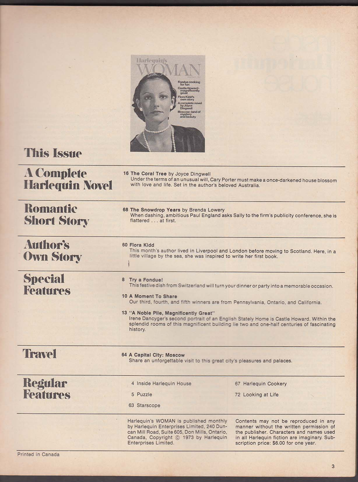 Image for HARLEQUIN V2 #3 Susan Barrie Magery Hilton Scottish Recipes + 1974