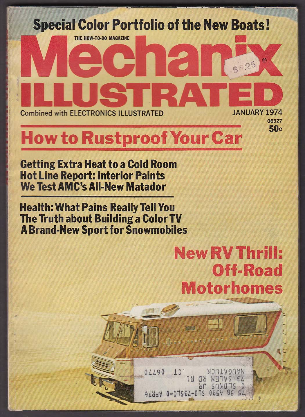 Image for MECHANIX ILLUSTRATED AMC Matador Fiat 128 road tests 1 1974