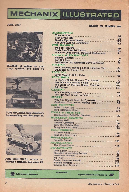 Image for MECHANIX ILLUSTRATED Chevrolet Impala road test UFO ++ 6 1967