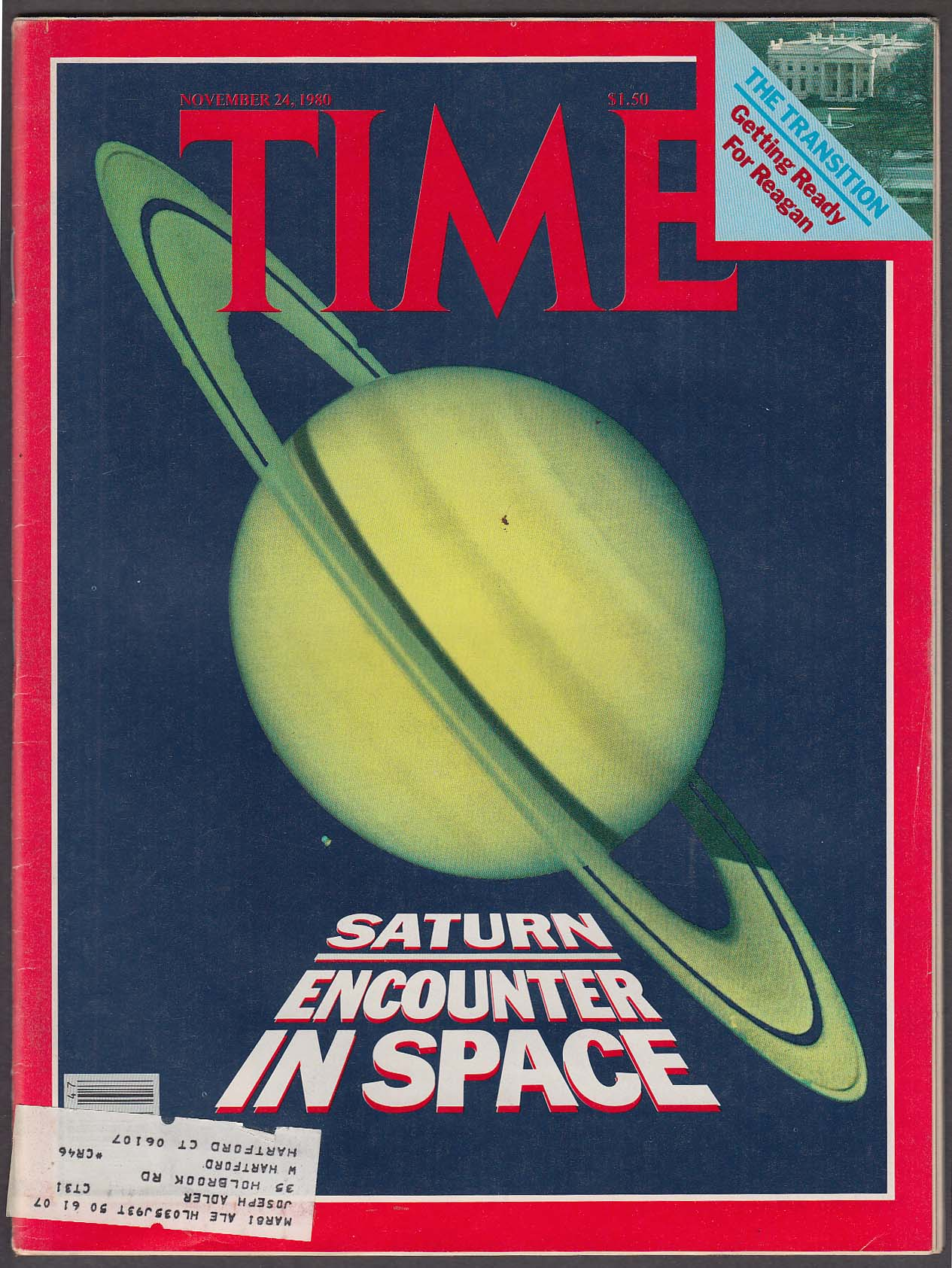 Image for TIME Voyager Saturn Ronald Reagan Iran Hostages Saddam Hussein + 11/24 1980
