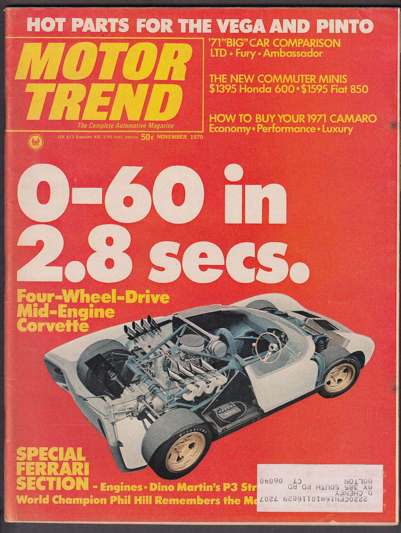 Image for MOTOR TREND AMC Ambassador Ford LTD Plymouth Sport Fury road tests ++ 11 1970
