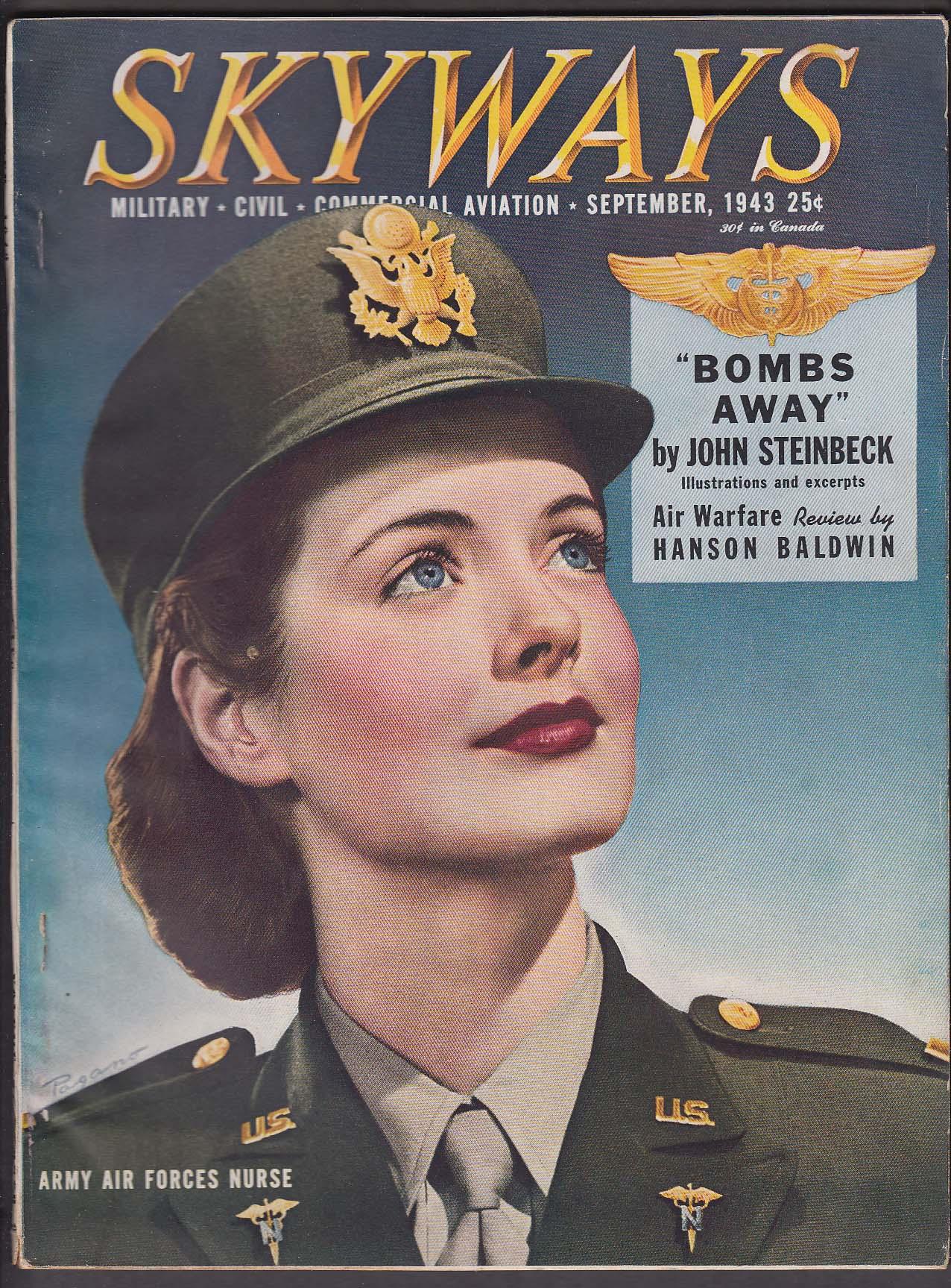 Image for SKYWAYS Army Air Forces Nurse John Steinbeck Hanson Baldwin ++ 9 1943