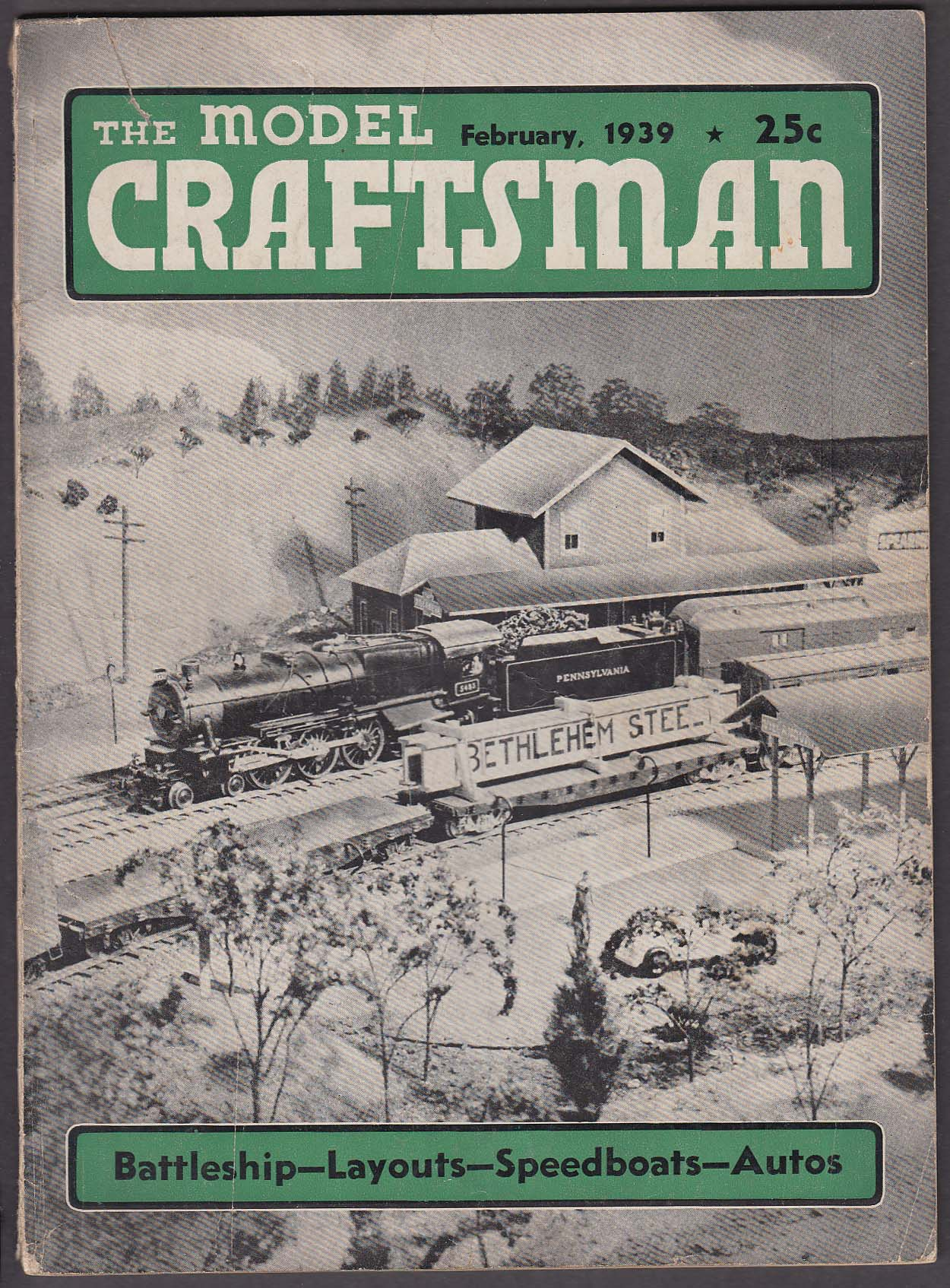 Image for MODEL CRAFTSMAN Radio Control Battleship; Racing Cars; St Louis & Clayton 2 1939