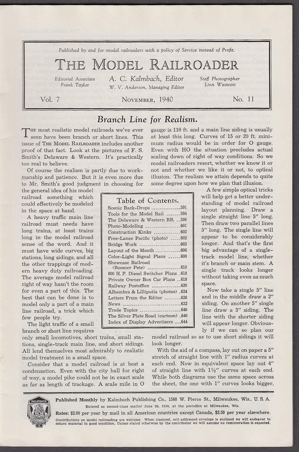 Image for MODEL RAILROADER Delaware & Western Railroad Diesel Switcher Plans ++ 1 1940