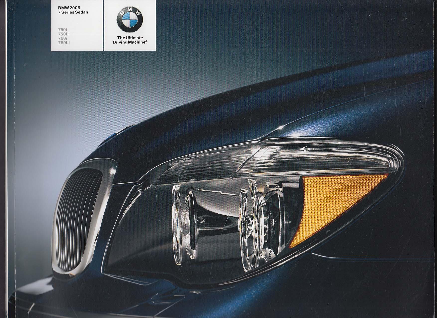 Image for 2006 BMW 7 Series Sedan sales brochure catalog 750i 750Li 760i 760Li